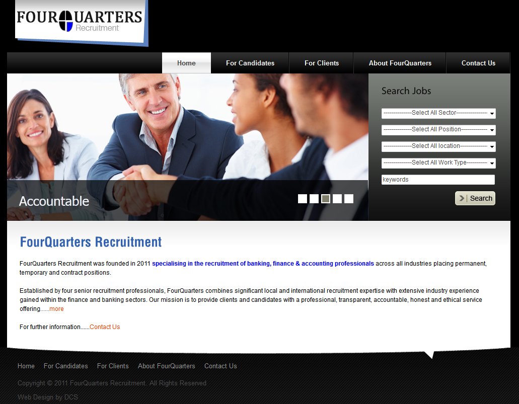 FourQuarters Recruitment Recruitment Web Design Solutions
