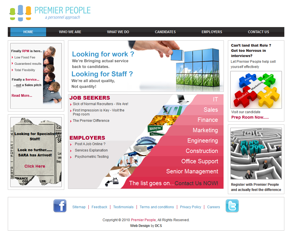 Premier Recruitment1 Recruitment Web Design Solutions
